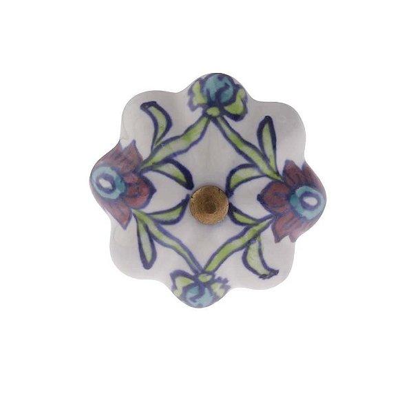 Puxador Decorativo de Cerâmica Redondo 50 mm - 001703