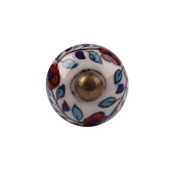 Puxador Decorativo de Cerâmica Redondo 30 mm - 001701