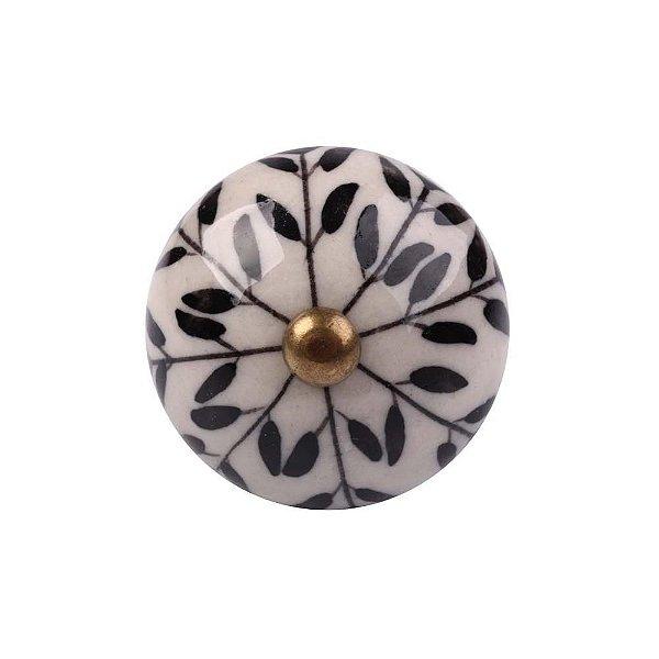 Puxador Decorativo de Cerâmica Redondo 40 mm - 001700