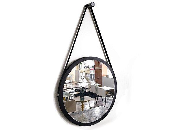 Espelho Adnet Decorativo Redondo de Parede 90 x 50 cm