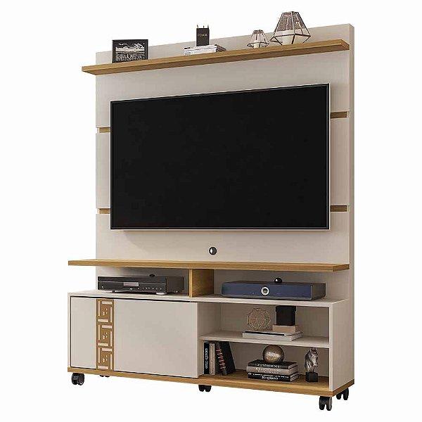 Rack com Painel Home para sala de Estar Largura 136 cm Altura 175 cm