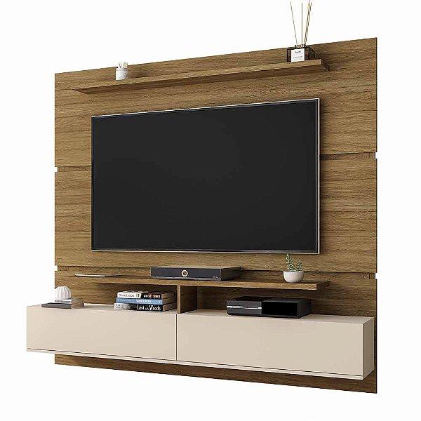 Painel para TV até 65 Polegadas Suspenso de Parede Largura 180 cm
