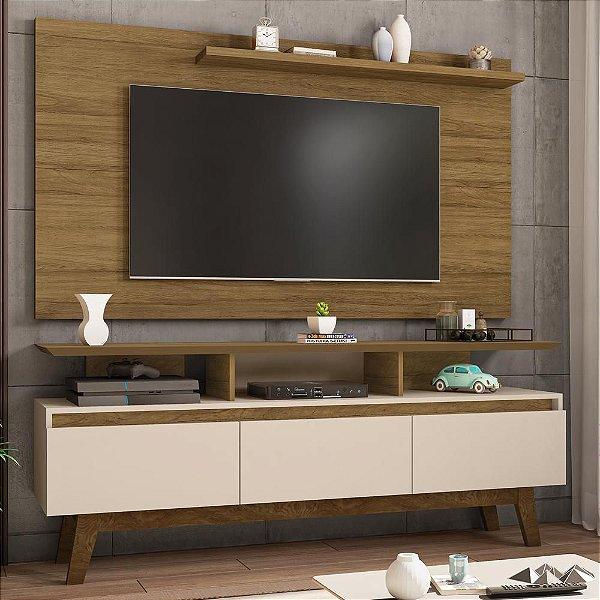painel rack tv 50 polegadas para sala 3 portas 3 nichos 160 cm profundidade 38 cm