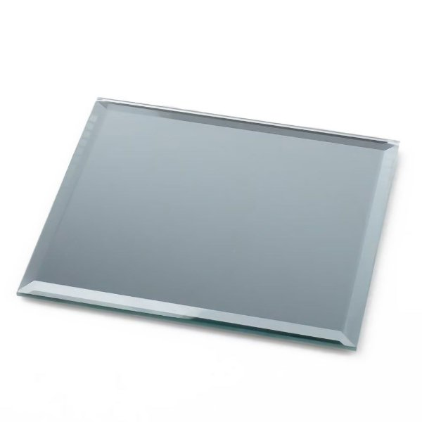 porta copos de mesa espelho artesanal atacado quadrado chanfrado