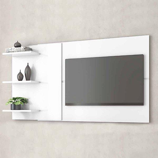 Painel Para Tv 60 Polegadas De Parede Com 3 Prateleiras Largura Ajustável De Mdf