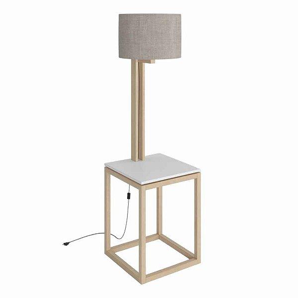 Mesa Lateral Moderna Com Luminária Embutida Altura 157 Cm Largura 45 Cm De Mdf