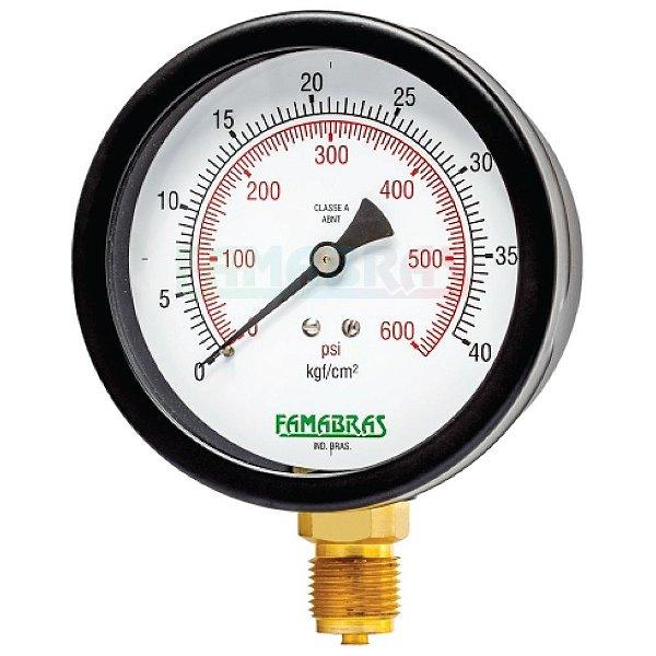 Manômetro Industrial FS 100/160/200 - Famabras