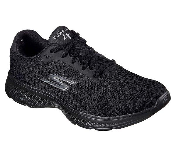 Tenis Esportivo Skechers Go Walk 4 Preto - 54156-Bbk