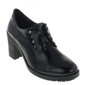 Sapato Oxford Salto Alto Mississipo Preto - q0382-pto