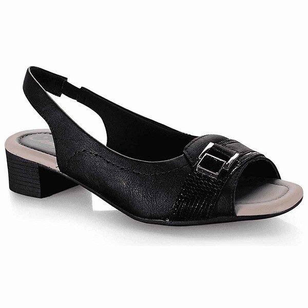 sandalia casual conforto campesi preto - l6903-pto