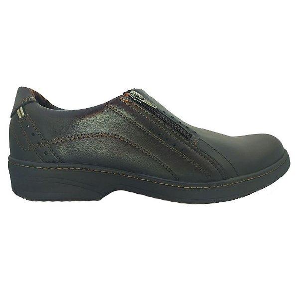 Sapato Social Pegada Masculino Couro E Ziper