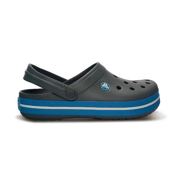 Sandalia Crocs Crocband Clog Charcoal Ocean