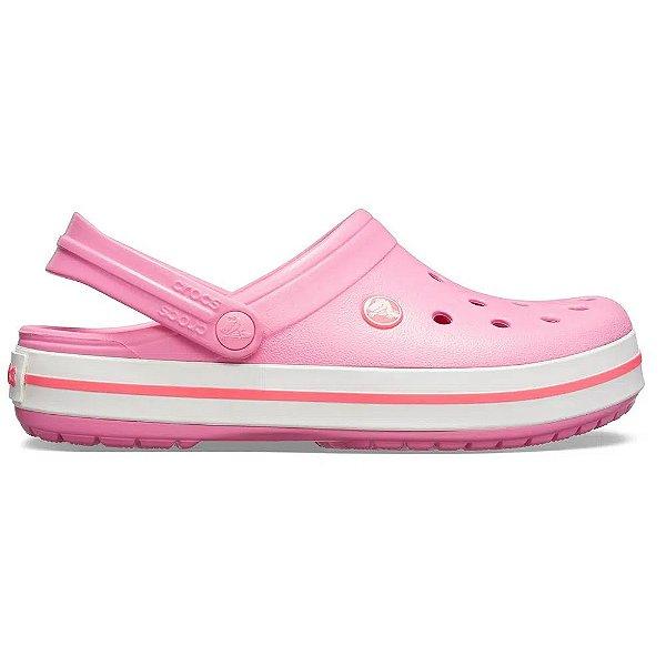 Sandalia Crocs Crocband Clog Pink Lemonade White