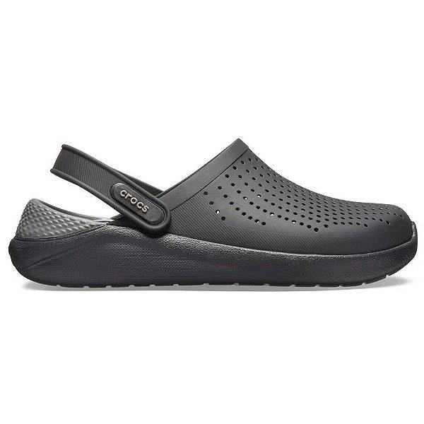 Sandalia Crocs Literide T Clog Black Slate Grey