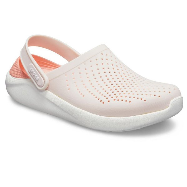 Sandalia Crocs Literide T Clog Barely Pink White