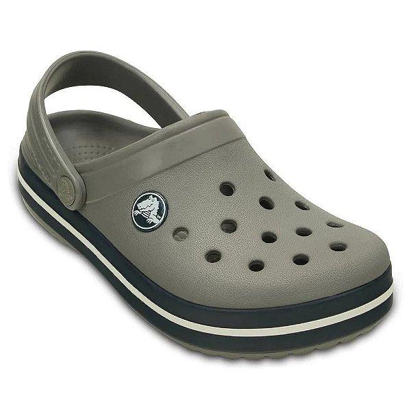 Clog Crocs Infantil Crocband Smoke Navy