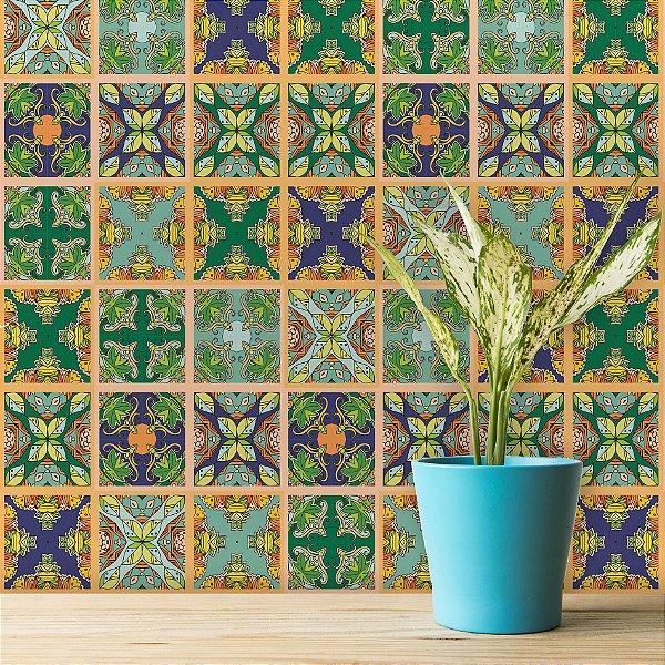 Adesivo de Azulejo Outono 15x15 cm com 36 un