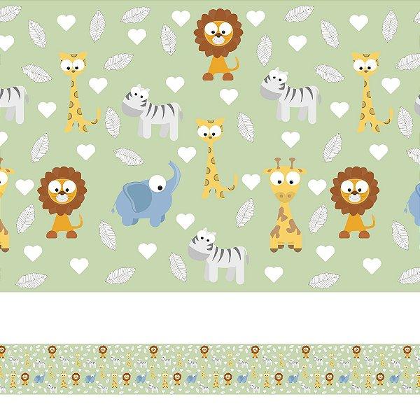 Adesivo de Parede Faixa Decorativa Infantil Animais Baby 10m x 10cm