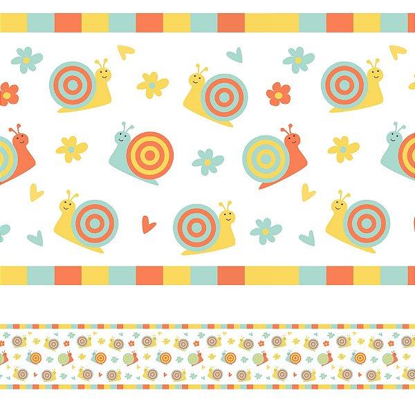 Adesivo de Parede Faixa Decorativa Caracol 10m x 10cm