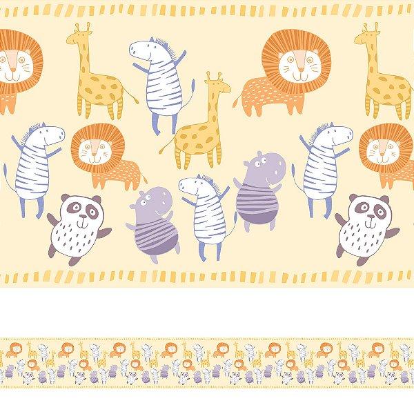 Adesivo de Parede Faixa Decorativa Infantil Animais 6m x 15cm