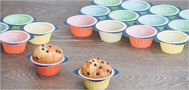 Forminhas forneáveis-Muffins - Color -10 Bandejas com 24UN - R$ 12,60 Unitário