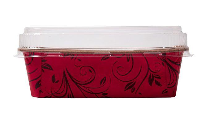 Forma Bolo Inglês Plumpy Tam. M - Vermelha COM TAMPA- 20UN - R$ 2,69 Unitário