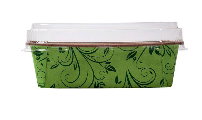 Forma Bolo Inglês Plumpy Tam. M - Verde COM TAMPA- 25UN - R$ 2,10 Unitário
