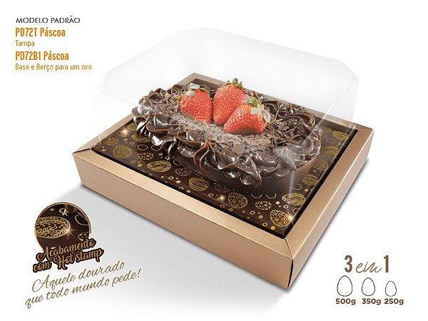 Caixa Pascoa para Ovo de Colher Premium 3 em 1 - R$ 7,76 a unidade