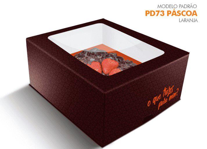 Caixa Pascoa para Ovo de colher Laranja - 350/500 grs - R$ 5,25 a unidade