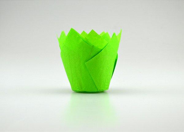 Forminhas Tulipas para CupCake – Verde - 100UN - R$ 0,34 Unitário