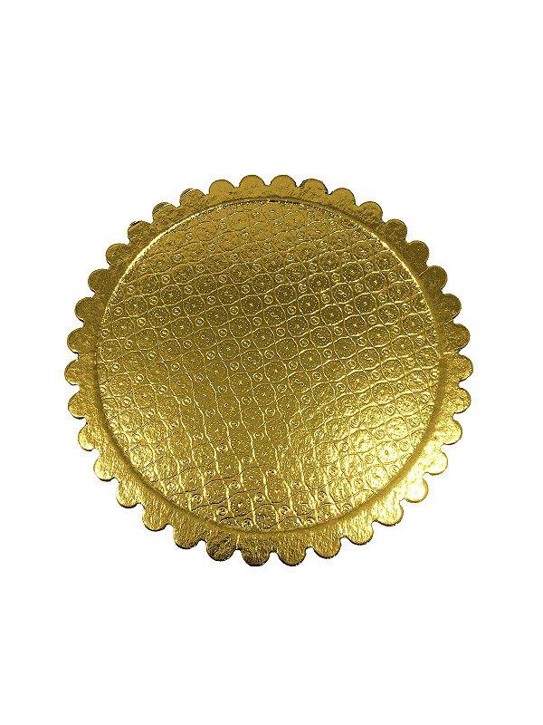 Cake Board 200mm - Dourado - 1 unid.