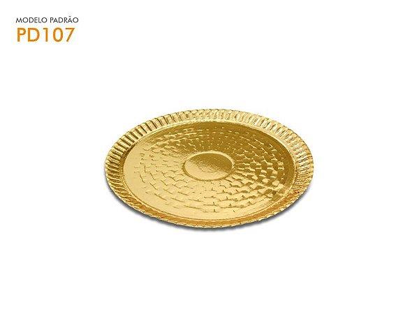 Pratinho p/ Monoporção Dourado 130mm 01und.