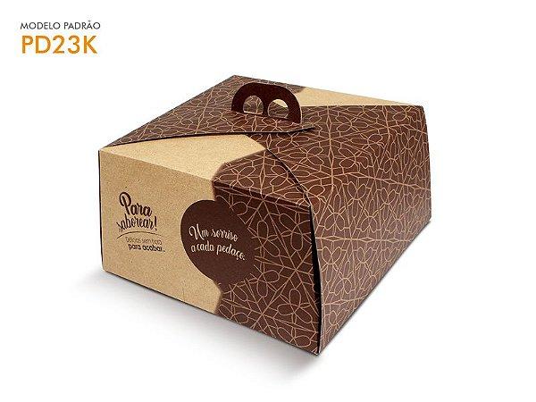 Embalagem Bolo 25x25x13,5 cm (1,5Kg) - Kraft Natural - c/ 01 unid.