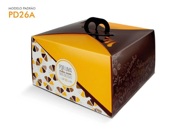 Embalagem Bolo Amarela 31,5x31,5x13 cm (2 Kg) - 01 unid.