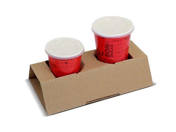 Suporte (2 copos) - 24,5 x 14 x 6 cm - 1 un.