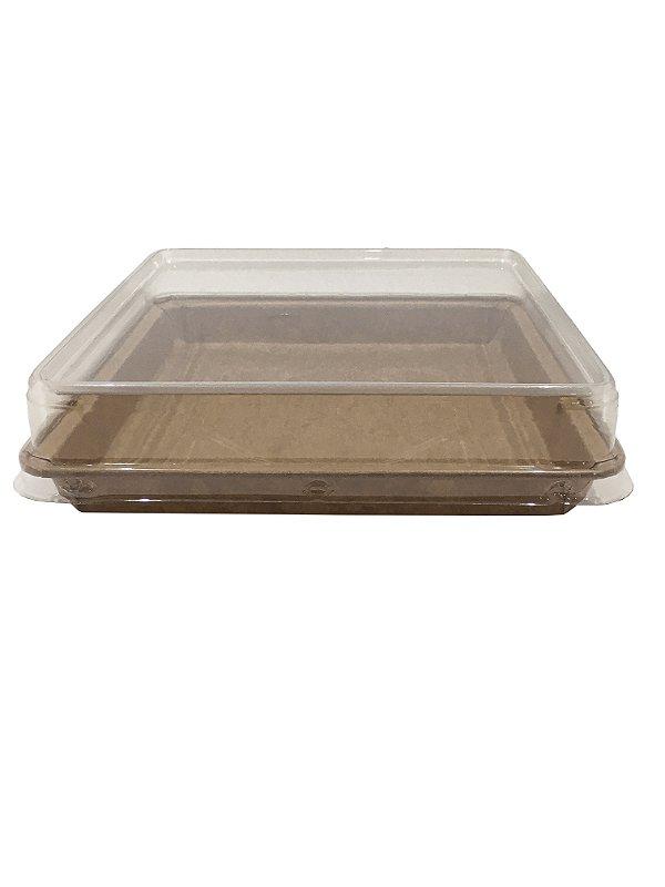 Forma forneável para Torta/Brownie Tam. G - Com Tampa – 10UN - R$ 3,14 Und.