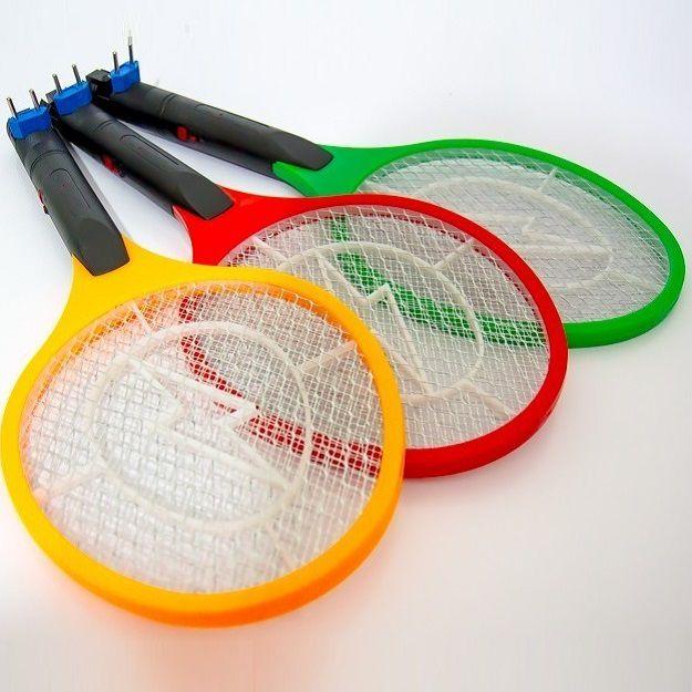 Raquete Eletrica Mata Moscas Mosquitos Recaregavel 110v 220v
