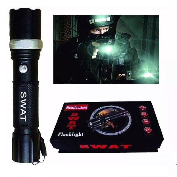 Lanterna Tática Led Q5 Semi-Profissional Longo Alcance 80.000W