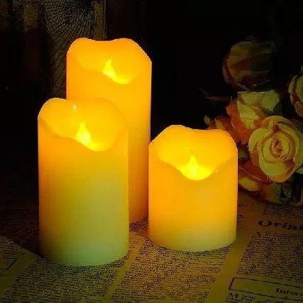 Kit 3 Velas Decorativas Eletrônicas Led Com Controle RGB - Decoração com velas, velas de led