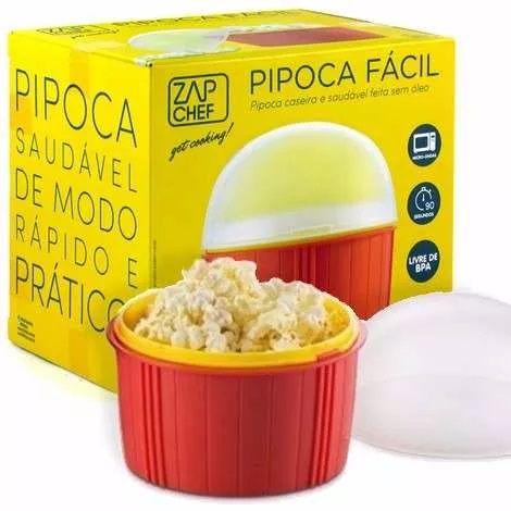 Pipoca Fácil Microondas Dtc - Pipoqueira Zap Chef - Original