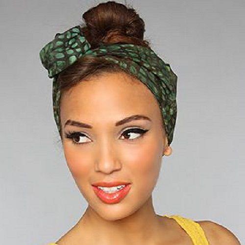 Turbante Moldável para Cabelo Com Arame Faixas Headband (mencionar a COR nos comentários quando finalizar o pedido)