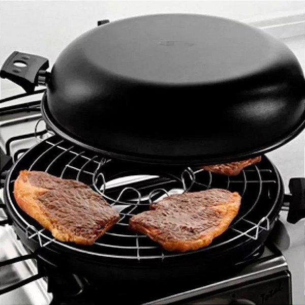 Mini Churrasqueira Grill De Fogão A Bafo Antiaderente Panela Grelha Sem Fumaça Para Fogão A Gas