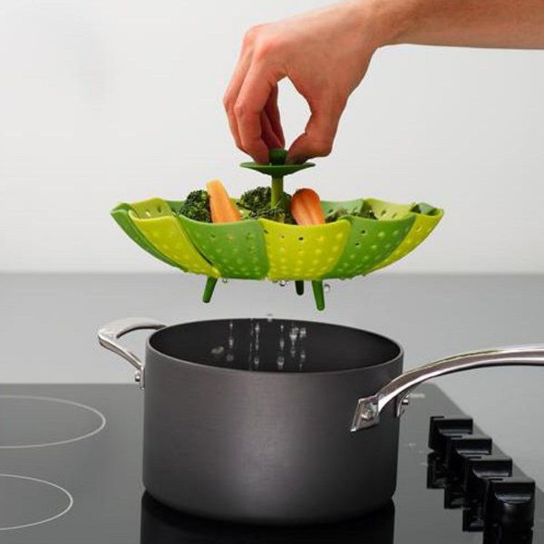 CESTO Acessório PANELA Para De Cozimento A VAPOR Verduras Legumes