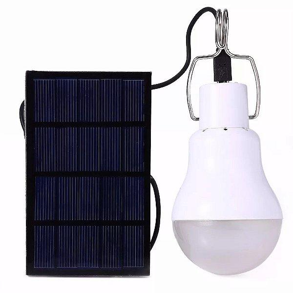 Lâmpada De Energia Solar Com Luz De 12 Led Tipo Pendente Uso Interno
