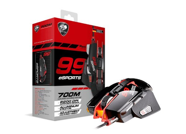 Mouse Gamer Cougar USB Óptico 700M e-Sports Red - Cgr-wlmr-700