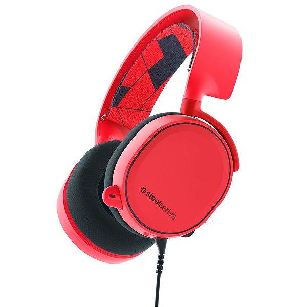 Headset Gamer Steelseries Arctis 3 Red 7.1 - 61435