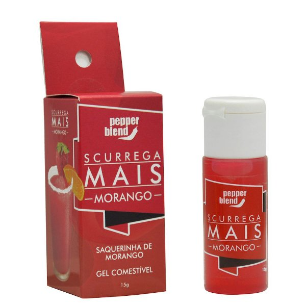 SCURREGA MAIS GEL COMESTÍVEL MORANGO PEPPER BLEND