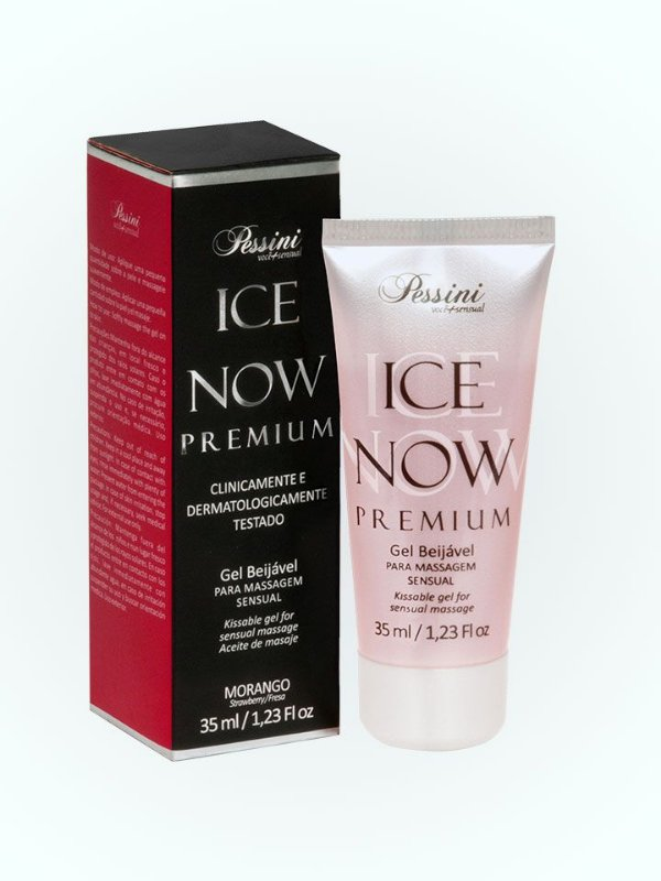 ICE NOW MORANGO GEL BEIJÁVEL PESSINI
