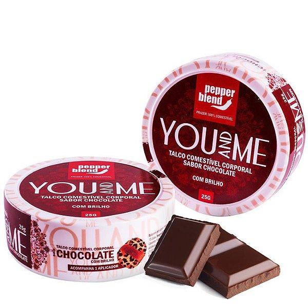Talco Comestível Chocolate - You And Me - Pepper Blend