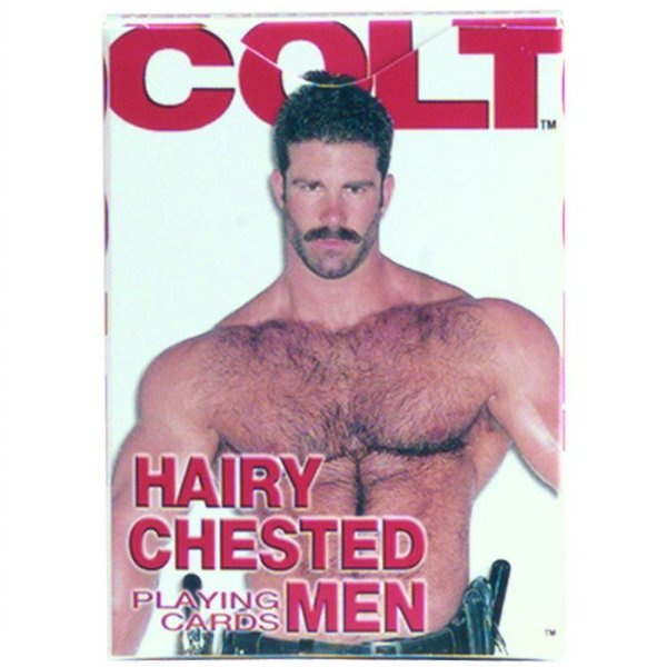 Baralho com ilustrações de homens - COLT HAIRY CHESTED MEN CARDS - CALIFORNIA EXOTIC